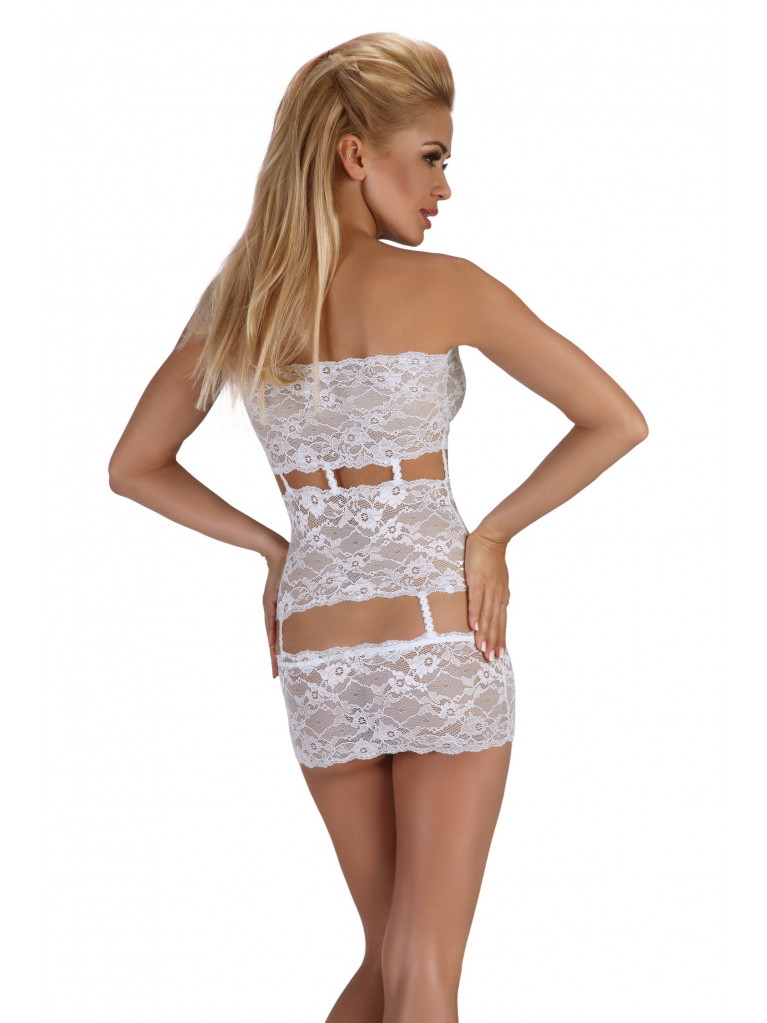 Nuisette blanche transparente Sibille